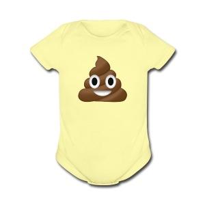 Poop clothing/mugs/phone cases. - Short Sleeve Baby Bodysuit