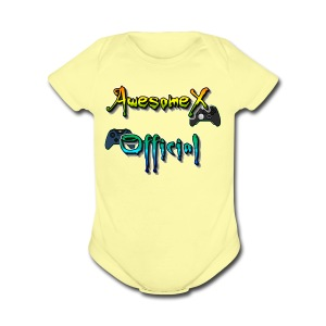 Official AwesomeX Logo Clothing - Short Sleeve Baby Bodysuit