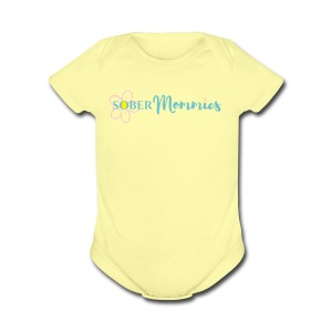Sober Mommies Merch - Short Sleeve Baby Bodysuit