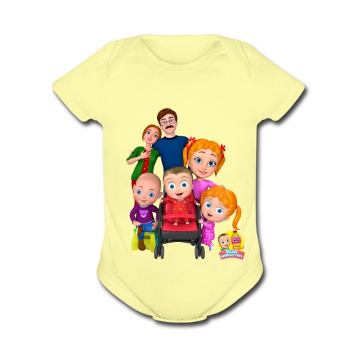 family capture - Organic Short Sleeve Baby Bodysuit