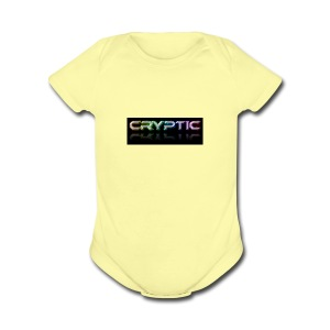 Cryptic Bonus Logo - Short Sleeve Baby Bodysuit