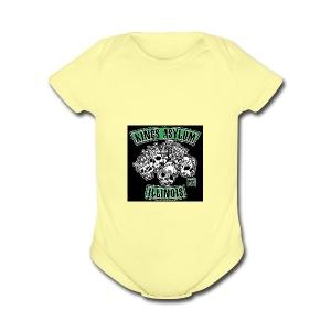KING S ASYLUM MC color 817 S21462 - Short Sleeve Baby Bodysuit