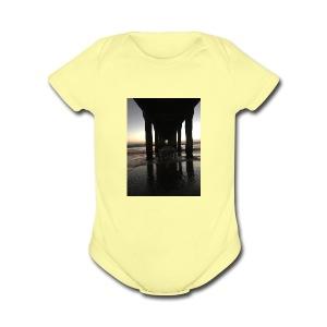 Manhattan Beach, Ca. - Short Sleeve Baby Bodysuit