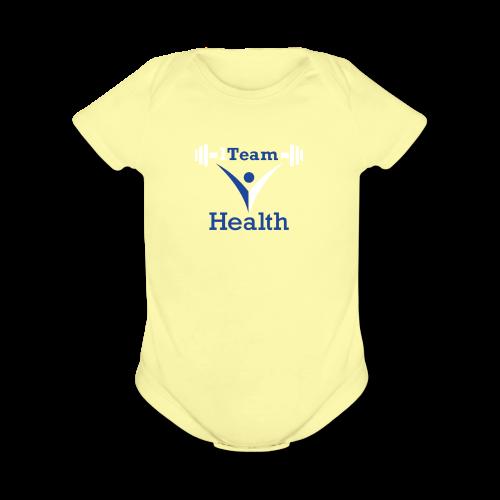 1TeamHealth - Organic Short Sleeve Baby Bodysuit