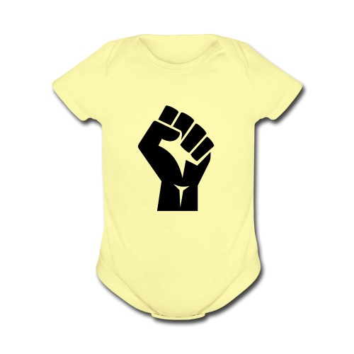 Fist Strong - Organic Short Sleeve Baby Bodysuit