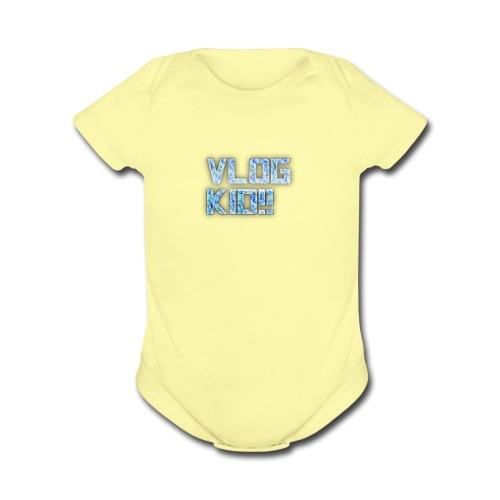 Vlog Kid - Organic Short Sleeve Baby Bodysuit