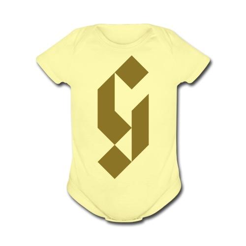 G Initial Glmn Logo - Organic Short Sleeve Baby Bodysuit