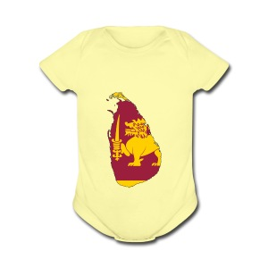 Flag map of sri lanka - Short Sleeve Baby Bodysuit