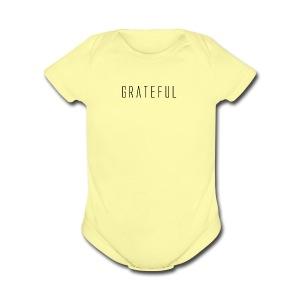 Grateful - Short Sleeve Baby Bodysuit