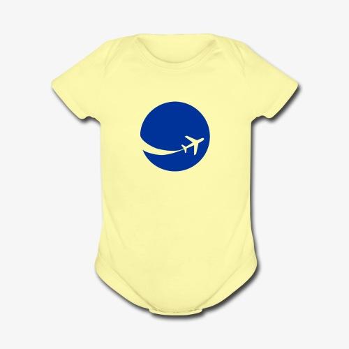 World flyer - Organic Short Sleeve Baby Bodysuit