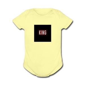 king - Short Sleeve Baby Bodysuit