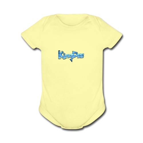 Cool Text KingDee 270963082030186 - Organic Short Sleeve Baby Bodysuit