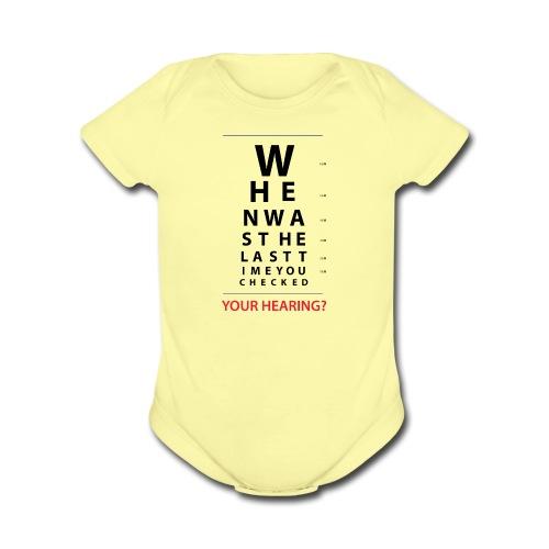 HEARING EYE CHART - Organic Short Sleeve Baby Bodysuit