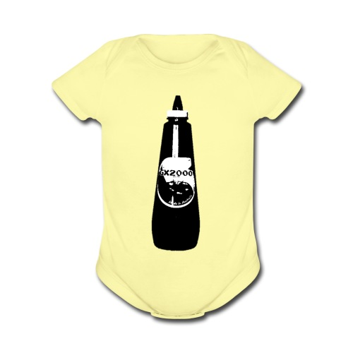 GX2000 KETCHUP DESIGN SPORTS WEAR - Organic Short Sleeve Baby Bodysuit