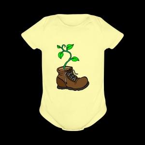 Plant In Boot - Short Sleeve Baby Bodysuit
