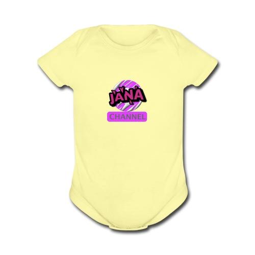 CHANNEL JANA - Organic Short Sleeve Baby Bodysuit