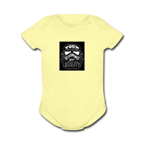 Quote - Organic Short Sleeve Baby Bodysuit