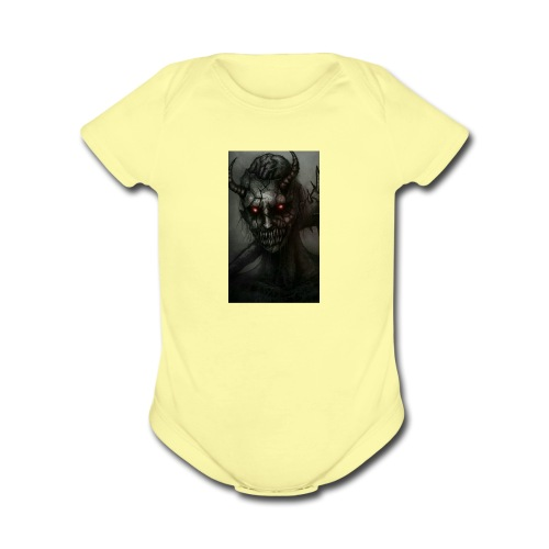 322Demon Gamer - Organic Short Sleeve Baby Bodysuit