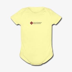 logo dark - Short Sleeve Baby Bodysuit