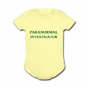 PARANORMAL INVESTIGATOR - Short Sleeve Baby Bodysuit