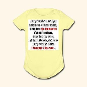 I CRY - Short Sleeve Baby Bodysuit