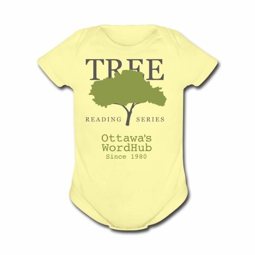 Tree Reading Swag - Organic Short Sleeve Baby Bodysuit