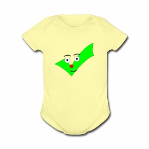 BABY DESIGN CHECKMARK SHIRT! - Short Sleeve Baby Bodysuit