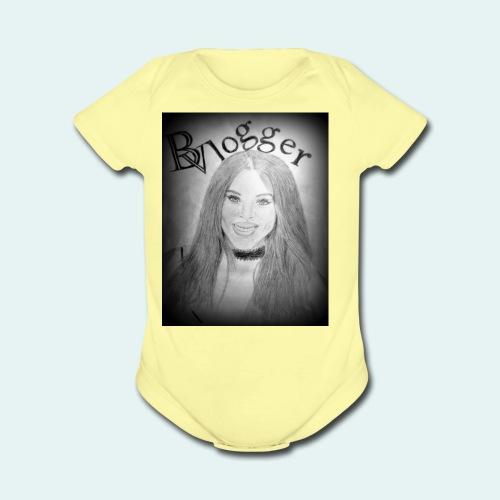 Beauty Vlogger Image Tshirt - Organic Short Sleeve Baby Bodysuit