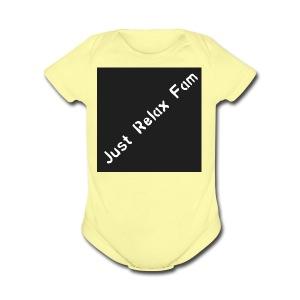 Just Relax Fam Logo - Short Sleeve Baby Bodysuit