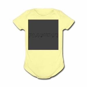 Blackdot grey - Short Sleeve Baby Bodysuit