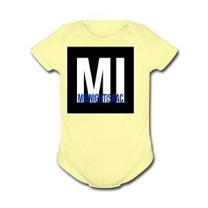 midnightisaac - Short Sleeve Baby Bodysuit