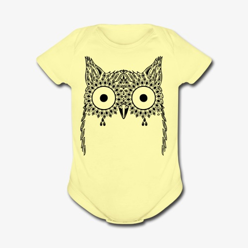 Black Owl Design - Organic Short Sleeve Baby Bodysuit