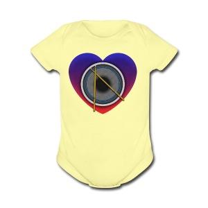 Heart Of Drums Logo - Short Sleeve Baby Bodysuit