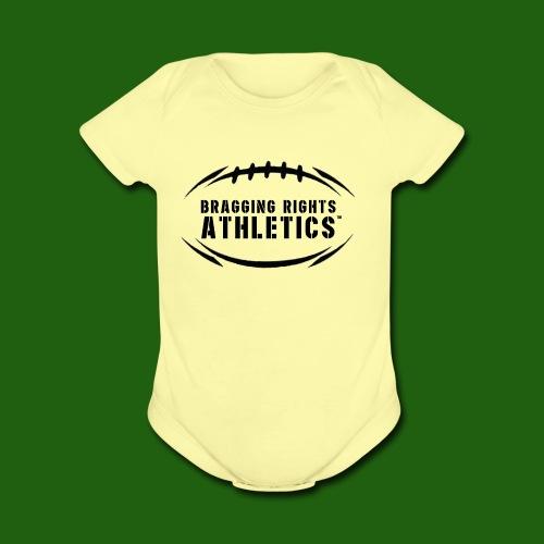 BRA Football Outline - Organic Short Sleeve Baby Bodysuit