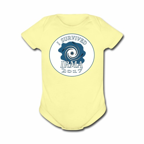 I survived Hurricane Irma 2017 - Organic Short Sleeve Baby Bodysuit