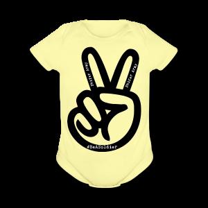 peace sign phifer army merch - Short Sleeve Baby Bodysuit