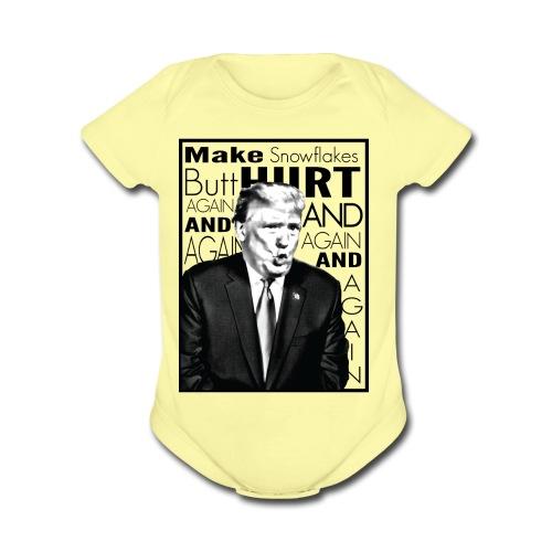 Trump Butthurt Snowflakes - Organic Short Sleeve Baby Bodysuit
