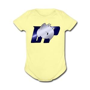 Daddy Pone logo - Short Sleeve Baby Bodysuit