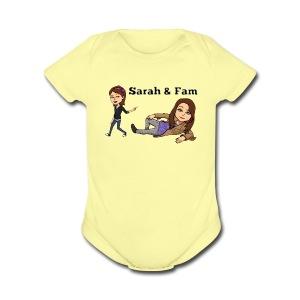 Sarah and Fam - Short Sleeve Baby Bodysuit