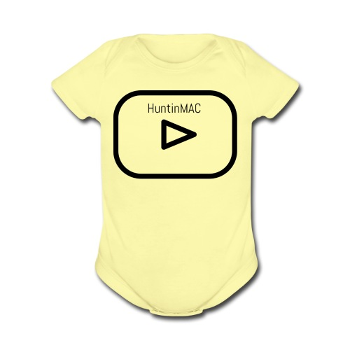 HuntinMAC logo - Organic Short Sleeve Baby Bodysuit