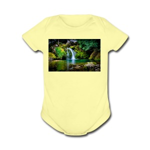 waterfall wallpaper desktop - Short Sleeve Baby Bodysuit