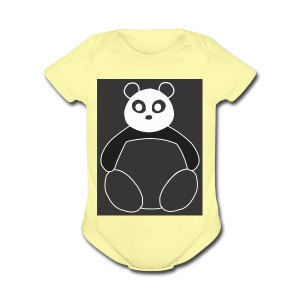 Fat Panda - Short Sleeve Baby Bodysuit