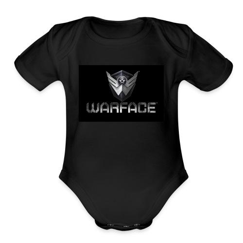 warface-logo - Organic Short Sleeve Baby Bodysuit