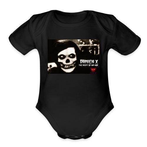 Crimson Ghost Logo - Organic Short Sleeve Baby Bodysuit