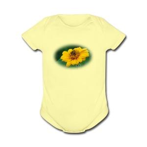 tridax procumbean - Short Sleeve Baby Bodysuit
