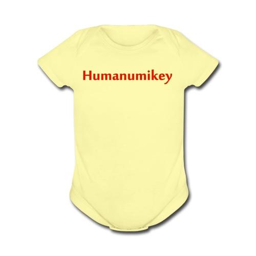 Humanumikey logo - Organic Short Sleeve Baby Bodysuit