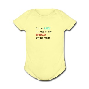 lazy girl quote - Short Sleeve Baby Bodysuit