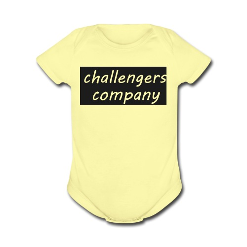 see through logo - Organic Short Sleeve Baby Bodysuit