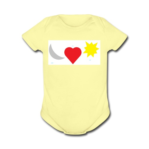 Love Collection - Organic Short Sleeve Baby Bodysuit
