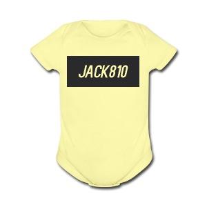 Jack810 logo - Short Sleeve Baby Bodysuit